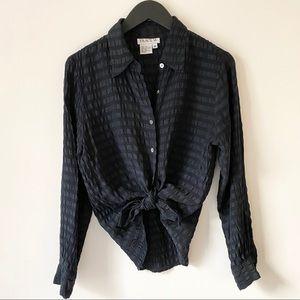 Vintage Silk Textured Blouse